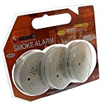 EUROSONIC Pack Of 3 Smoke/Fire Alarm With Batteries Eurosonic Branded Uk Product from EUROSONIC