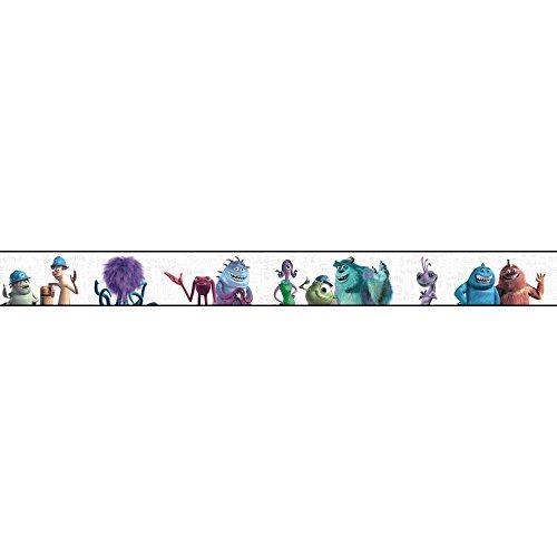 York Wallcoverings DS7746BD Walt Disney Kids II Monsters Inc Border, White/Aqua/Blues/Purples/Greens/Black (Monsters Inc Wallpaper compare prices)