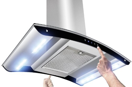 "Akdy New 36"" European Style Island Mount Stainless Steel Range Hood Vent Touch Control Az-Sg-10B6-Is-36"""