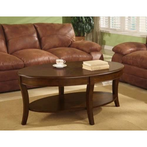 Oval Walnut Coffee Table. A Beautiful Accent Table