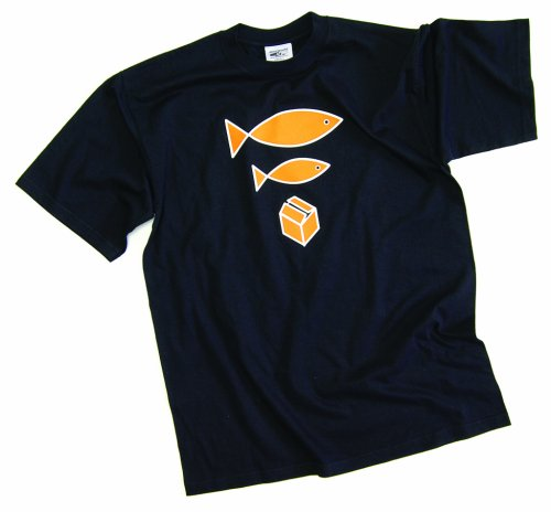 DMC Technics Big Fish, Little Fish, Cardboard Box DJ Mens T-Shirt Black D050M Medium
