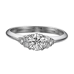 IGI Certified 14k white-gold Round Cut Diamond Engagement Ring (0.60 cttw, E Color, SI2 Clarity)