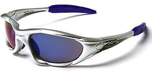 X-Loop ® Gafas de Sol - La nueva colección 2013-14 - Modelo Deportivo - Gafas de Sol / Esqui / Deportes - Protección UV400 (UVA & UVB) (Plata Azul)