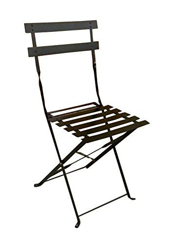 Sedia pieghevole nera in metallo verniciato nero