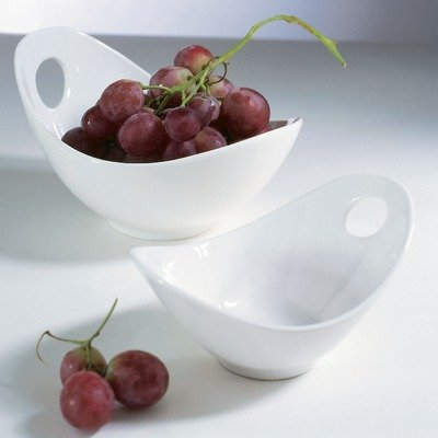 10 Strawberry Street Whittier 7 Inch Fruit Bowl with Cut Out White