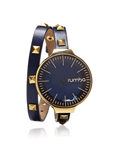 RumbaTime Women's 23824 Orchard Blue Leather Wrap Watch