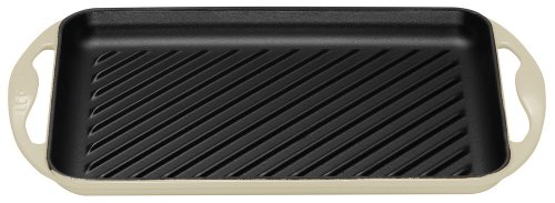 Le Creuset Cast Iron Rectangular Grill, Almond