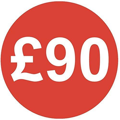 Audioprint Lot. 10000Lot de Prix £90autocollants 30mm rouge