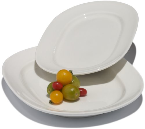 Tom Douglas Commercial-Grade Large and Small White Serving Platters, Set of 2