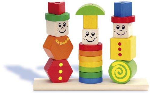 HEROS 100073422 - Puzzle in legno da infilare, 20 pezzi