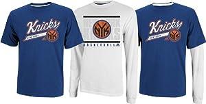 New York Knicks NBA 2013 Adidas 3 in 1 T-Shirt Combo - 2 Shirts by adidas