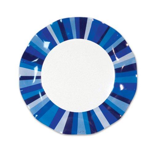 Blue Stripe Large Plates (10/Pkg)