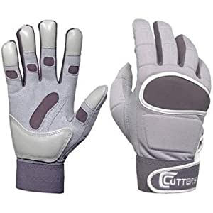 Cutters Linebacker/Runningback Gloves Small (grey)