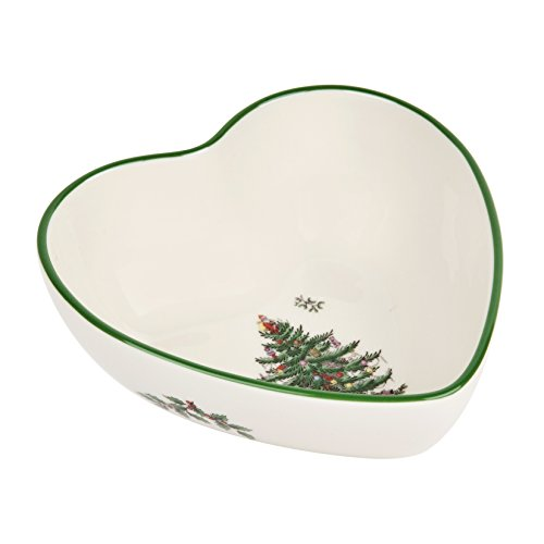 Spode Christmas Tree Heart Shaped Dip Bowl