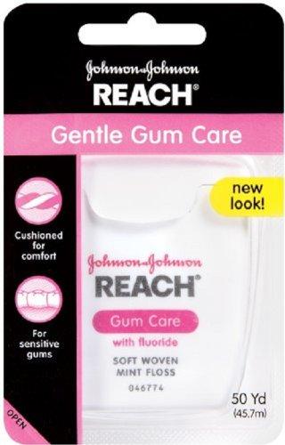 Reach Gentle Gum Care Woven Dental Floss, Fluoride, 50-Yard Dispensers (Pack of 6)