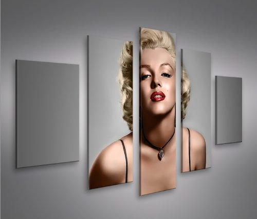 Marilyn Monroe V11-5 5 Quadri moderni su tela - pronti da appendere ...