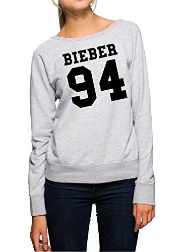 Bieber 94 Felpa Girls Grigio-M