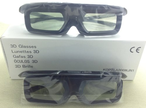 2 Pairs NEW Sharp Aquos An3dg40 Bluetooth (Rf) Active 3d Glasses (Black)