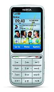 Nokia C3-01 Unlocked Touch and Type GSM Phone--U.S. Version with Warranty (Silver)