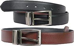 Faux Leather Reversible Belt