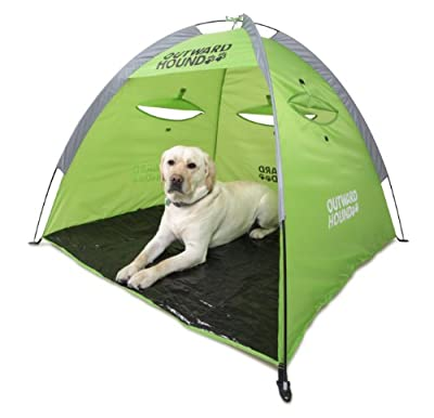 Kyjen 2546 Outward Hound Shade Shelter Pet Tent Outdoor Dog Shelter, Extra Large, Green