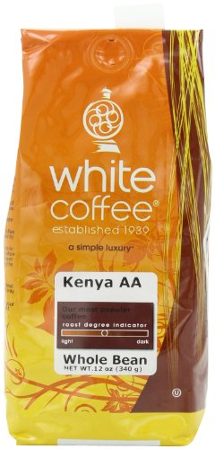 White Roasted Coffee Kenya AA Whole Bean 12-Ounce Bags Pack of 3B001D1YLIC