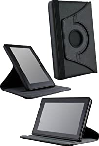 Handhelditems Multi Angle 360 Stand Up Case For Amazon Kindle Fire Tablet - Black Package include a HandHelditems Sketch Stylus Pen