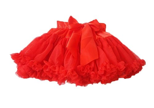 [Babytree] Girl Skirt, Network Yarn , Tutu, Princess Skirt . D4001Red(6)