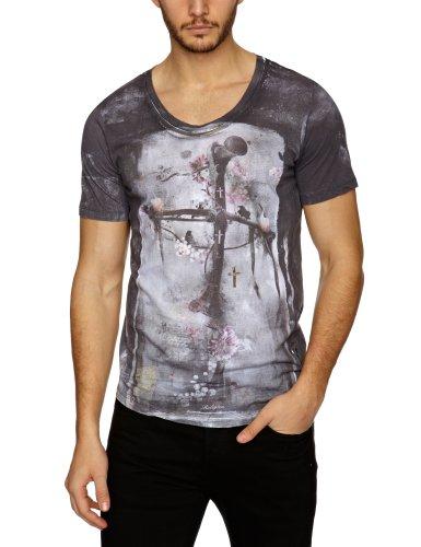 religion B213 COF11 Printed Men's T-Shirt Washed Black Large