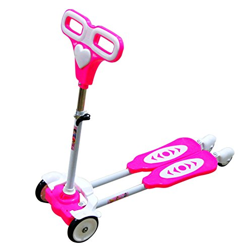 Pink Princess Kids Scooter - This 4-wheel Scissor Kick Scooter is the Perfect Children's Gift