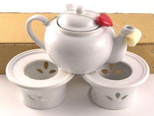 White Ceramic Teapot Warmer