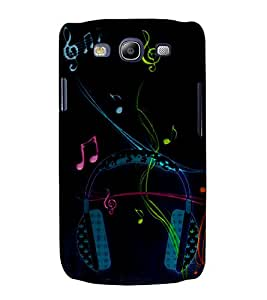 Music Head Phones 3D Hard Polycarbonate Designer Back Case Cover for Samsung Galaxy S3 :: Samsung Galaxy S3 i9300