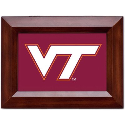 Collegiate Music Jewelry Box Finish: Wood Grain, Ncaa Team: Virginia Tech University - Vt Logo