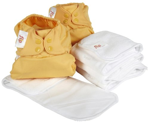 Flip Snap Stay Dry Insert Day Pack 6 Pack Clementine