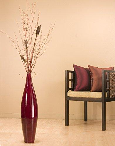 Green Floral Crafts 30 In Bamboo Ellipse Tall Vase Amp Diy Pods Floral Kit