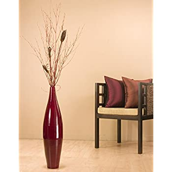 Bamboo Ellipse Tall Vase