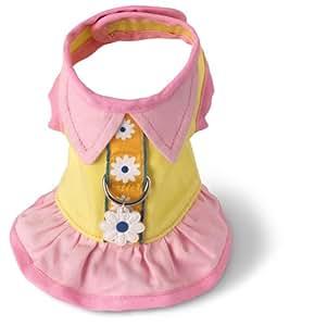 Doggles Dog Harness Dress, Yello, Small