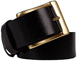 Blueblue Sky Men's Genuine Leather Bridle Belts#tz (47 in, Black)