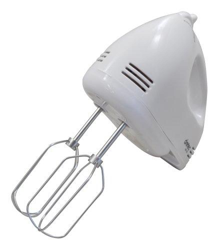 DRETEC(ドリテック) ハンドミキサー スピード5段階切替 / 電源コード、ビーターが収納できるケース付き ホワイト HM-703WT