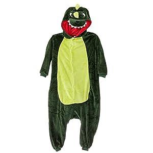 Amour - Kigurumi Sleepsuit Pajamas Costume Cosplay Unicorn Homewear Lounge Wear Ightwear (Shoes Excluded)(L, Dinosaur)