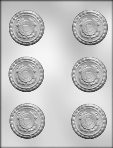 Ck Products 2-1/4-Inch Coast Guard Insignia Chocolate Mold