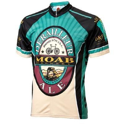 World Jersey's Moab Brewery Derailleur Ale Short Sleeve Cycling Jersey