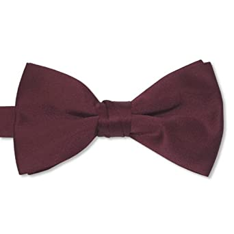 "Burgundy Satin Mens 2 1/2"" Bow Tie"