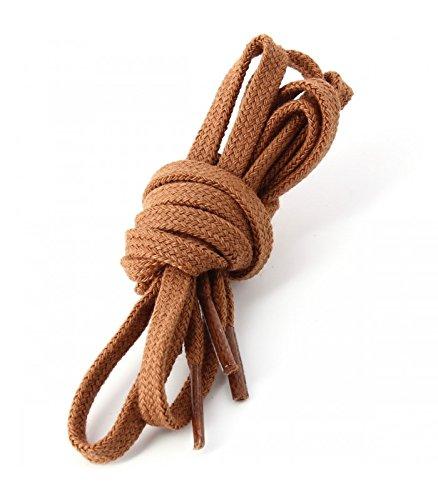 Die Schnürsenkel Französisch-Schnürsenkel Gerichte Baumwolle Farbe Kupfer, Braun - Braun - braun - Größe: 90