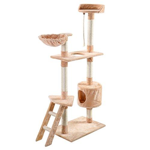 60-cat-tree-tower-condo-scratcher-furniture-kitten-pet-house-hammock-beige