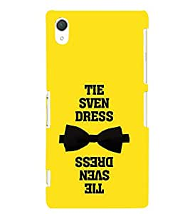 Tie Dress Quote 3D Hard Polycarbonate Designer Back Case Cover for Sony Xperia Z2 :: Sony Xperia Z2 L50W D6502 D6503