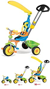 Vivo Unisex Childrens / Children / Kids / Girls / Boys Universal Trike Tricycle Bike 3 Wheel with Turning Parent Handle