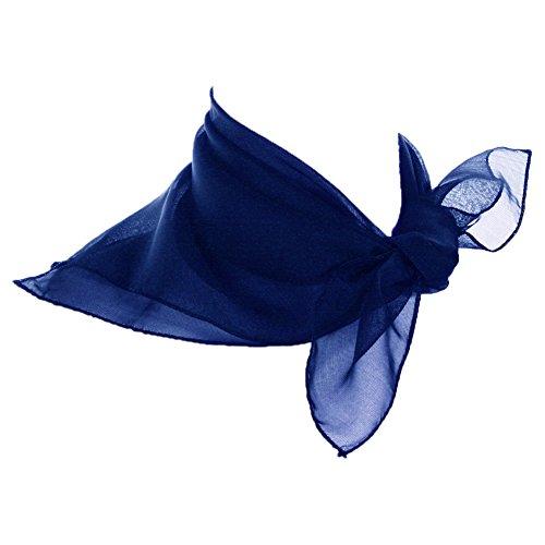 Sheer Royal Blue Scarf