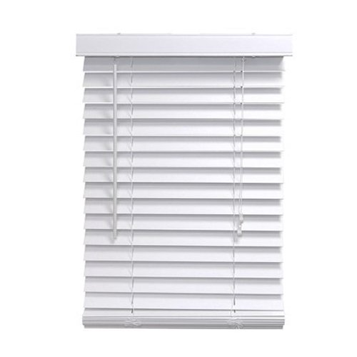 Faux wood blinds homepointe 3464fww white fauxwood mini for 2 inch faux wood window blinds