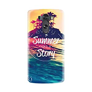 LG G3 Designer Printed Covers (LG G3 Back Cover) - Summer has a Story Quote